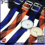Yxl-031 de promotieManchet van het Horloge van het Ontwerp van de Douane van de Riem van Perlon van het Polshorloge van de Riem van het Horloge van de Goede Kwaliteit van de Stijl van de Band van de Riem Perlon Nieuwe In het groot