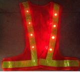 LEDライトが付いている高い可視性のトラフィック作業安全ベスト