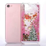 Случай iPhone 7 аргументы за мобильного телефона плывуна яркия блеска подарка декора рождества жидкостный