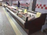 Showcase Refrigerated supermercado da carne fresca do indicador