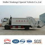 8cbm Dongfeng Euro4 자동적인 후방 호퍼 선적 쓰레기 쓰레기 압축 분쇄기 트럭