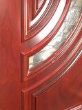Porte en bois externe d'entrée avant d'acajou (GSP1-036)