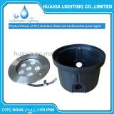 316 el acero inoxidable IP68 impermeabiliza la lámpara ligera subacuática ahuecada LED de la piscina