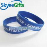 Wristband su ordinazione all'ingrosso promozionale del silicone 2017 con il marchio