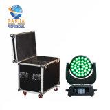 Indicatore luminoso capo mobile UV Hex della lavata dello zoom LED della fase Lighting-36*18W 6in1 Rgbaw di Rasha con la cassa della strada di caso di volo 2in1