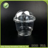 tazze di plastica libere biodegradabili del gelato 12oz con i coperchi della cupola