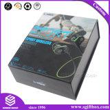 Os acessórios eletrônicos do cartão Foldable do projeto simples ajustaram a caixa de empacotamento do presente com logotipo impressa