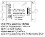CV DMX512 контроллера блока декодера 3A*3 канала