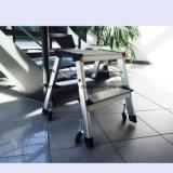 De 2-stap van het Aluminium van de Fabrikant van China de Ladders van de Krukken van de Stap van de Ladder