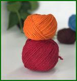 Jutefaser-Faser gefärbtes Garn 100% (orange)