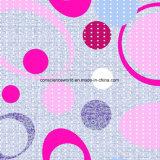 Kreis 100%Polyester der Punkte Pigment&Disperse druckte Gewebe für Bettwäsche-Set