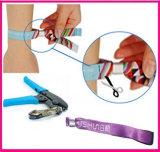 Пластичная заклепка кнопок зажима для медицинских Wristbands PVC винила