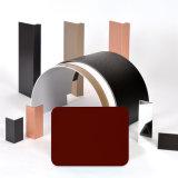 L'extérieur Aluis 5mm Fire-Rated Core panneau composite aluminium-0.40mm épaisseur de peau en aluminium de PVDF Rouge foncé