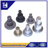 Alumínio/rebite contínuo personalizado aço da etapa do ombro