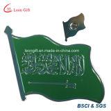 Pin magnetico personalizzato del risvolto della bandierina dell'Arabia Saudita dello smalto