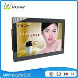 LCD de 19 pulgadas de plástico marco de foto digital de fotos MP3 MP4 con vídeo HD