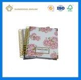 Caderno espiral maioria barato com o fabricante feito sob encomenda da impressão (caderno impresso OEM)