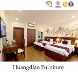 Hotel de estilo moderno mobiliário de quarto de cama (HD202)