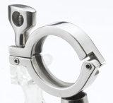 De sanitaire Klem van de Pijp van de Klaver van de Metalen kap van de Klem van het Roestvrij staal Tri