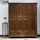 Quarto de alta qualidade do mobiliário de madeira sólida roupeiro (como842)