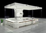 Show de jóias, quiosque de exibição de jóias, armário de vidro, suporte