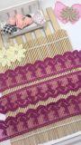 工場標準的な卸売4.5cmの幅の刺繍の衣服のアクセサリ及びホーム織物のためのナイロン化学純レースポリエステル刺繍のトリミングの空想の網のレース
