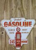 ガソリン・ステーションデザインは印刷の金属の壁の装飾のプラクを浮彫りにする