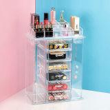 透過引出しのタイプアクリルの装飾的な収納箱、デスクトップの口紅の棚
