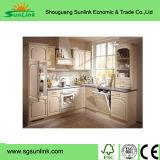 Gabinete de cozinha em madeira artificial de madeira em estilo europeu