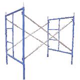Échafaudage traditionnel de construction H de bâti enduit de la poudre