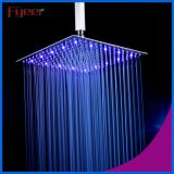 16 pulgadas cepillado ultra delgado de acero inoxidable LED cabezal de ducha