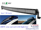 IP67 288W CREE Curved LED Light Bar