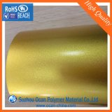 Strato laminato rigido del PVC della pellicola della scintilla dell'oro per la pelle del timpano