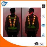 Veste elevada do diodo emissor de luz da visibilidade do Nighttime para funcionar