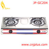 ステンレス鋼の2つのバーナーのガスレンジの(JP-GC204)