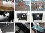 Moderne Art-Schrank-festes Holz-Badezimmer-Eitelkeit mit LED-Spiegel
