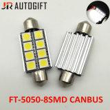 12V를 차 유행에 따라 디자인 해서 5050 8 SMD Canbus 39/41mm 자동차 번호판 빛을 꽃줄로 장식하십시오