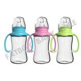 Pp.-Nahrungsmittelgrad-Baby-Flasche mit Griff und regelmäßigem Stutzen 210ml für führendes Baby