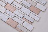 Azulejos de la pared de vidrio de cocina/sala de estar mosaico de la pared de vidrio/tira piedra Mosaico