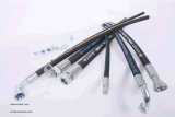 Boyau en caoutchouc hydraulique à haute pression flexible de tresse de fil