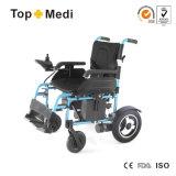 Cadeira de rodas fácil da energia eléctrica da dobradura de Topmedi para deficientes motores Handicapped