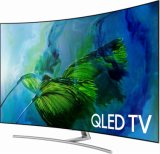 "4K de 55"" LED Ultra HD TV / Qled televisor inteligente curvo"