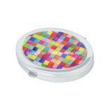Espelho Pocket barato da composição oval colorida
