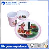 Produit multicolore de consommation quotidienne de jeu de dîner de vaisselle de mélamine