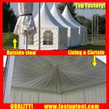 Weißes Aluminium Belüftung-hohe Spitzen-Pagode-Zelt für 30 Leute Seater Gast