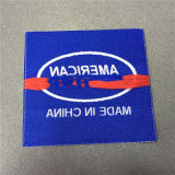 Custom 4.8*8.2cm Borde suave tela etiqueta tejida