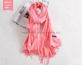 方法ウールはカシミヤ織のPashminaの冬の柔らかく暖かいスカーフの女性のスカーフのふさを嘆く