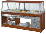 Het houten Buffet van de Staaf van de Salade van het Type van Eiland voor het restaurant van de Catering