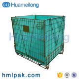 Durável rígido removível de preformas PET Metal Dobrável Recipiente de malha de arame