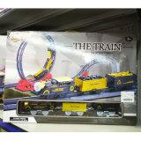 Corrida do trilho de trem luz elétrica ferroviária via brinquedo para crianças
